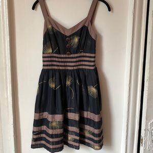 Black Silk Dandelion Dress